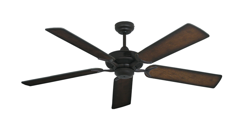 "Coastal Air Oil Rubbed Bronze with 52"" Distressed Hickory Blades"