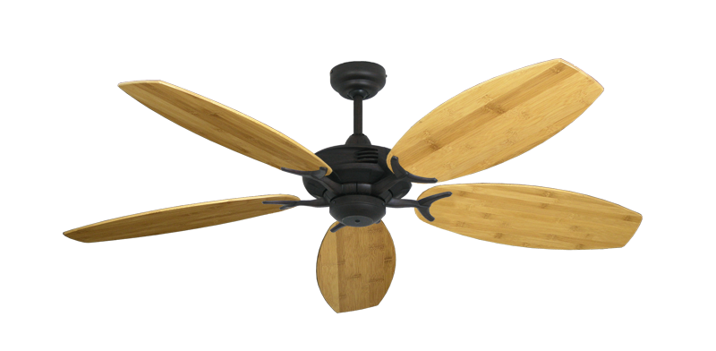 """Coastal Air Oil Rubbed Bronze with 52"""" Oar Bamboo Brown Blades"""