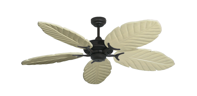 "Picture of Coastal Air Oil Rubbed Bronze with 52"" Series 125 Arbor Whitewash Blades"