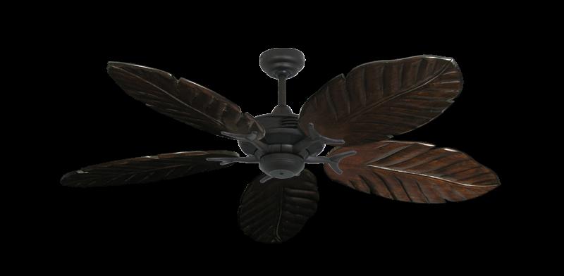 "Coastal Air Oil Rubbed Bronze with 52"" Series 125 Arbor Dark Walnut Blades"