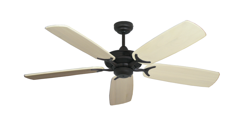 "Picture of Coastal Air Oil Rubbed Bronze with 52"" Series 425 Arbor Whitewash Blades"
