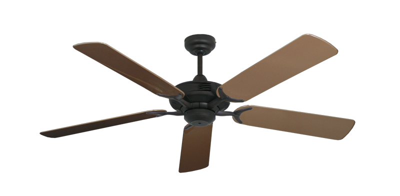 "Coastal Air Oil Rubbed Bronze with 52"" Outdoor Brown Blades"