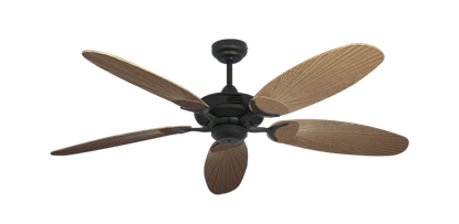 "Picture of Coastal Air Oil Rubbed Bronze with 52"" Outdoor Leaf Tan Blades"