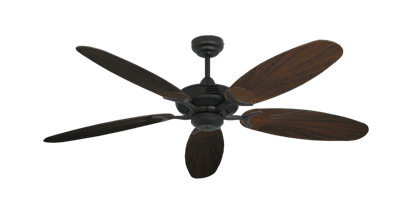 "Picture of Coastal Air Oil Rubbed Bronze with 52"" Outdoor Leaf Oil Rubbed Bronze Blades"