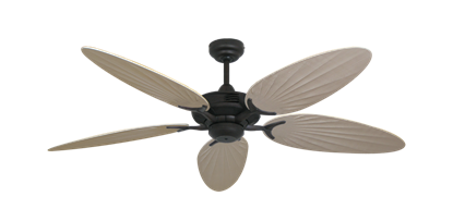 "Picture of Coastal Air Oil Rubbed Bronze with 52"" Outdoor Palm Distressed White Blades"
