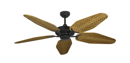 "Picture of Coastal Air Oil Rubbed Bronze with 52"" Outdoor Weave Walnut Blades"