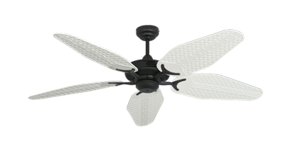 "Picture of Coastal Air Oil Rubbed Bronze with 52"" Outdoor Weave Pure White Blades"