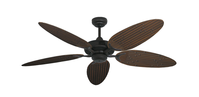 """Picture of Coastal Air Oil Rubbed Bronze with 52"""" Outdoor Bamboo Oil Rubbed Bronze Blades"""