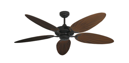"Picture of Coastal Air Oil Rubbed Bronze with 52"" Outdoor Palm Oil Rubbed Bronze Blades"