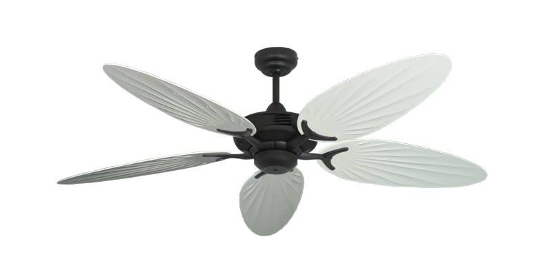 "Coastal Air Oil Rubbed Bronze with 52"" Outdoor Palm Pure White Blades"
