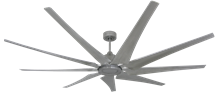 Liberator 82 in. WiFi Enabled Indoor/Outdoor Brushed Nickel Ceiling Fan