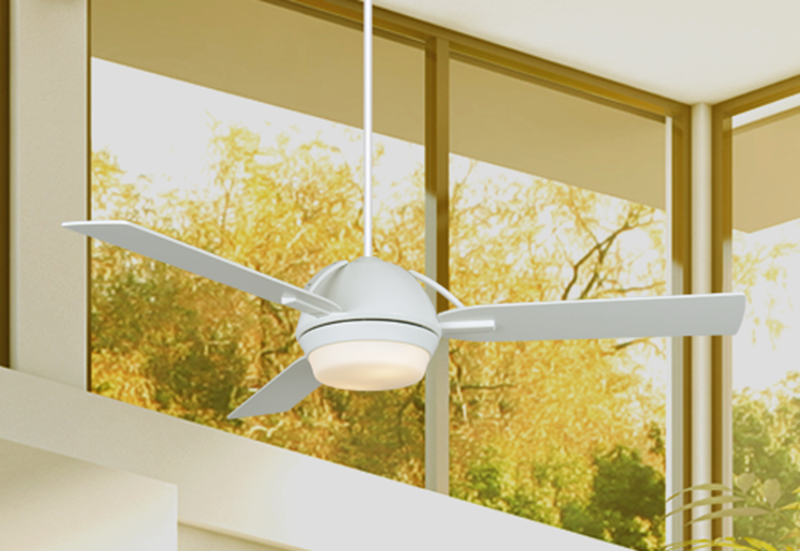 Enterprise 52 in. Pure White Ceiling Fan with Light | Dan's ... on