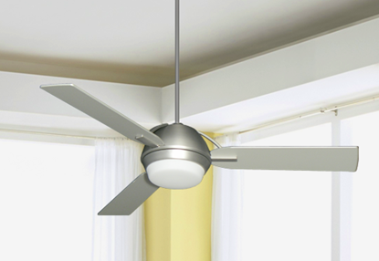 Enterprise 52 in. Satin Steel Ceiling Fan with Light