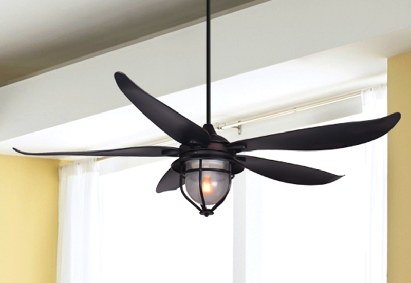 St. Augustine 59 in. Indoor/Outdoor Oil Rubbed Bronze Ceiling Fan with Light