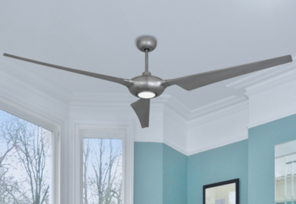 Ion 76 in. WiFi Enabled Indoor/Outdoor Brushed Nickel Ceiling Fan with 15W LED Light and Remote Control