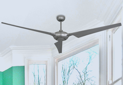 Picture of Ion 76 in. WiFi Enabled Indoor/Outdoor Brushed Nickel Ceiling Fan with Remote Control