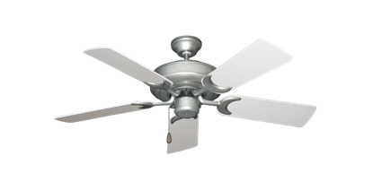 """Picture of Raindance Brushed Nickel BN-1 with 44"""" Pure White Blades"""