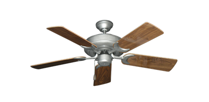 """Picture of Raindance Brushed Nickel BN-1 with 44"""" Walnut Gloss Blades"""