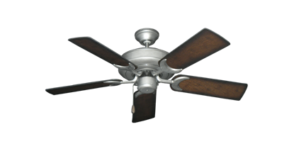 """Picture of Raindance Brushed Nickel BN-1 with 44"""" Distressed Hickory Blades"""