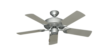"Picture of Raindance Brushed Nickel BN-1 with 44"" Satin Steel (painted) Blades"