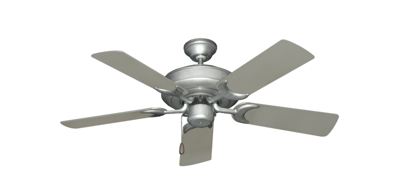 """Picture of Raindance Brushed Nickel BN-1 with 44"""" Satin Steel (painted) Blades"""