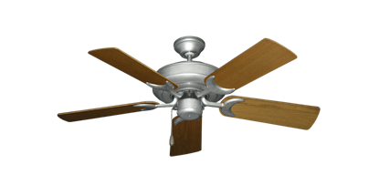 """Picture of Raindance Brushed Nickel BN-1 with 44"""" Light Oak Blades"""