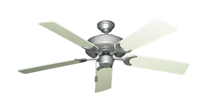 """Picture of Raindance Brushed Nickel BN-1 with 52"""" Antique White Blades"""