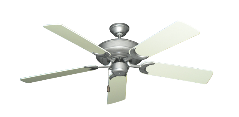 "Picture of Raindance Brushed Nickel BN-1 with 52"" Antique White Blades"