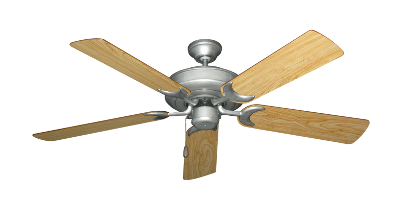 """Picture of Raindance Brushed Nickel BN-1 with 52"""" Maple Blades"""