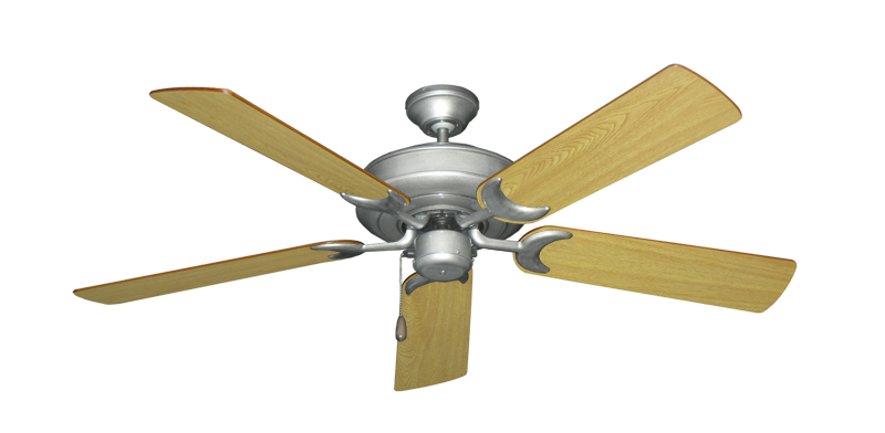 "Picture of Raindance Brushed Nickel BN-1 with 52"" Honey Oak Blades"