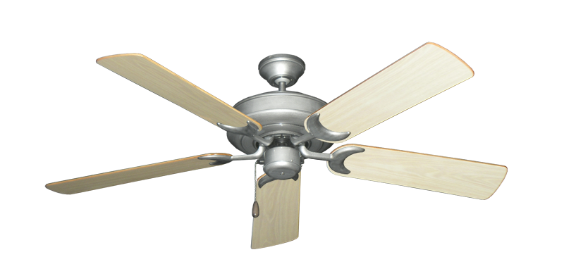 "Picture of Raindance Brushed Nickel BN-1 with 52"" Bleached Oak Gloss Blades"