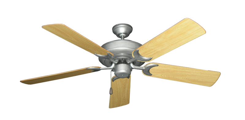 "Picture of Raindance Brushed Nickel BN-1 with 52"" Honey Oak Gloss Blades"