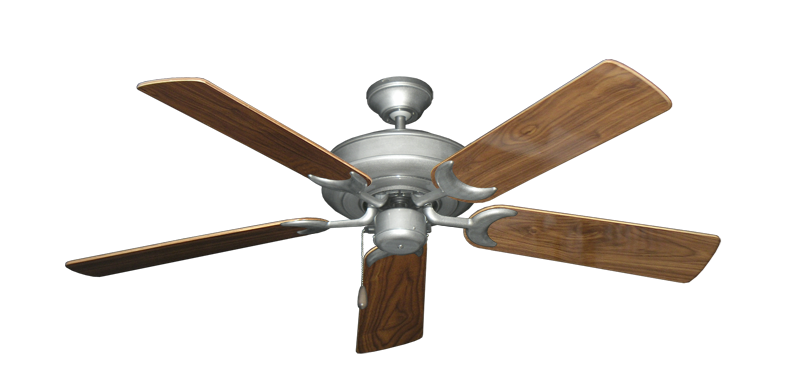 """Picture of Raindance Brushed Nickel BN-1 with 52"""" Walnut Gloss Blades"""