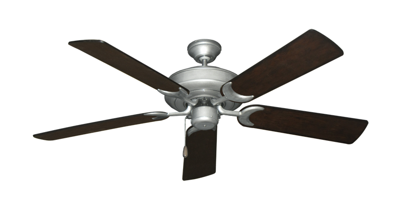 "Picture of Raindance Brushed Nickel BN-1 with 52"" Distressed Walnut Blades"