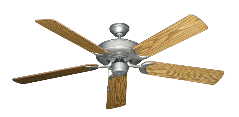 """Picture of Raindance Brushed Nickel BN-1 with 56"""" Oak Gloss Blades"""