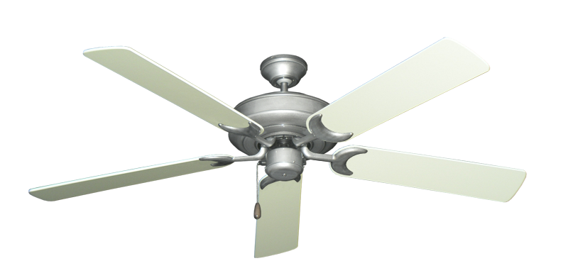"Picture of Raindance Brushed Nickel BN-1 with 56"" Antique White Blades"