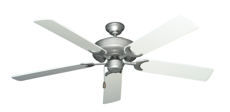 """Picture of Raindance Brushed Nickel BN-1 with 56"""" Pure White Blades"""