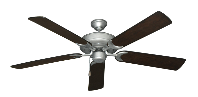 "Picture of Raindance Brushed Nickel BN-1 with 56"" Distressed Walnut Blades"