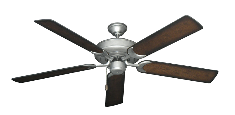 """Picture of Raindance Brushed Nickel BN-1 with 56"""" Distressed Hickory Blades"""