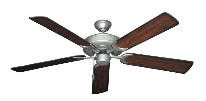 """Picture of Raindance Brushed Nickel BN-1 with 56"""" Burnt Cherry Blades"""