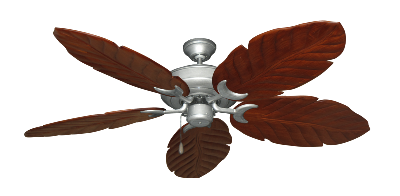 "Picture of Raindance Brushed Nickel BN-1 with 58"" Series 100 Arbor Cherrywood Blades"