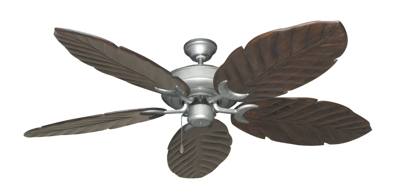 "Picture of Raindance Brushed Nickel BN-1 with 58"" Series 100 Arbor Dark Walnut Blades"