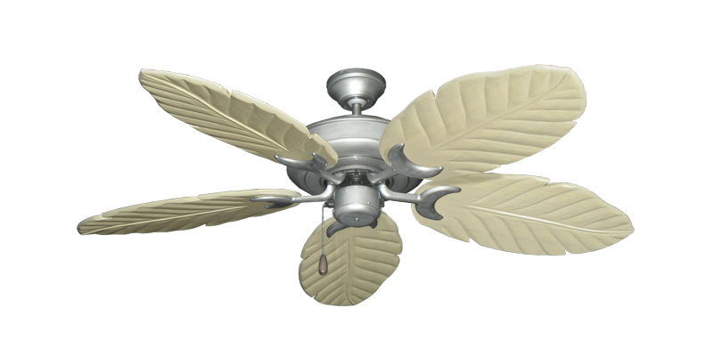 "Picture of Raindance Brushed Nickel BN-1 with 52"" Series 125 Arbor Whitewash Blades"