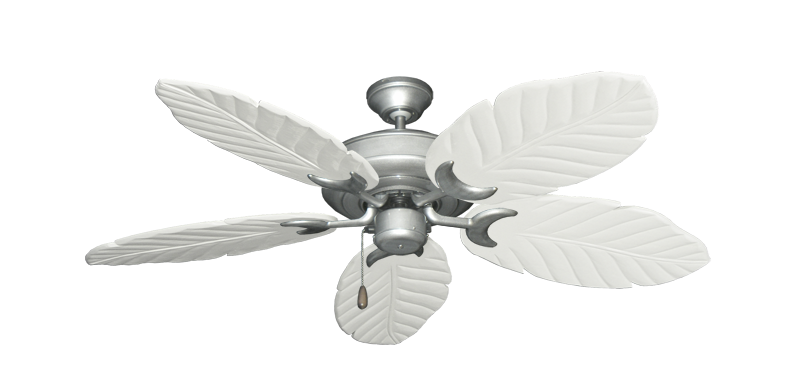 "Raindance Brushed Nickel BN-1 with 52"" Series 125 Arbor Pure White Blades"