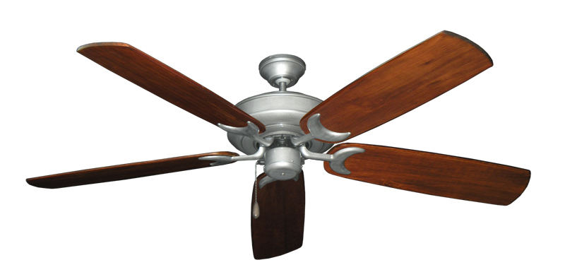 "Picture of Raindance Brushed Nickel BN-1 with 60"" Series 450 Arbor Cherrywood Blades"
