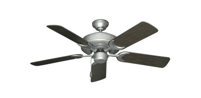 """Picture of Raindance Brushed Nickel BN-1 with 44"""" Outdoor Oil Rubbed Bronze Blades"""