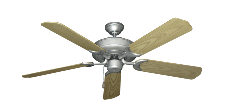 "Picture of Raindance Brushed Nickel BN-1 with 52"" Outdoor Bleached Oak Blades"