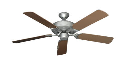 """Picture of Raindance Brushed Nickel BN-1 with 52"""" Outdoor Brown Blades"""