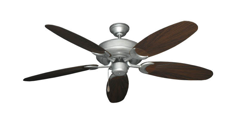 "Picture of Raindance Brushed Nickel BN-1 with 52"" Outdoor Leaf Oil Rubbed Bronze Blades"
