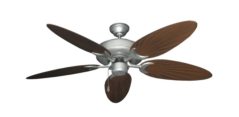 "Raindance Brushed Nickel BN-1 with 52"" Outdoor Palm Oil Rubbed Bronze Blades"